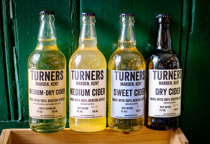 Turners Cider bottles