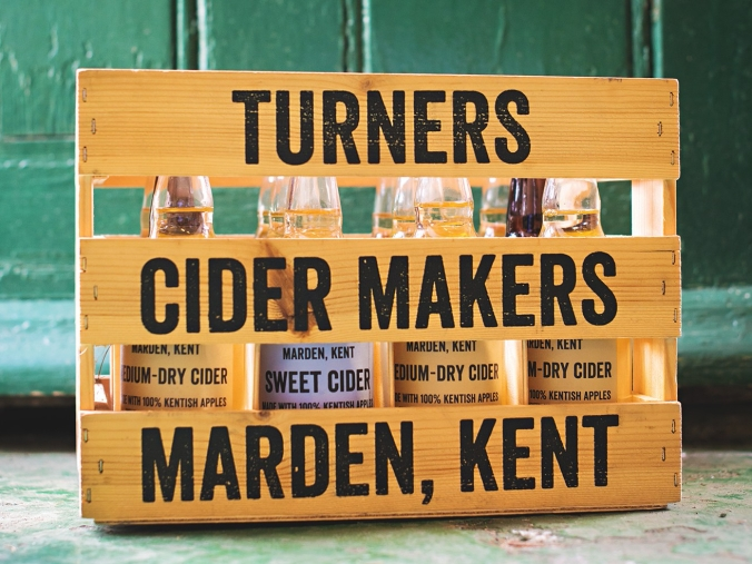 Turners Cider crate